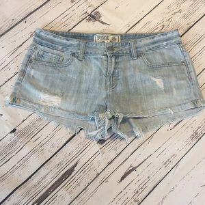 Vintage Pink Denim Shorts 8